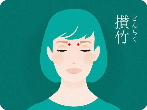 鍼灸師が教える疲れ目のツボ攅竹さんちく