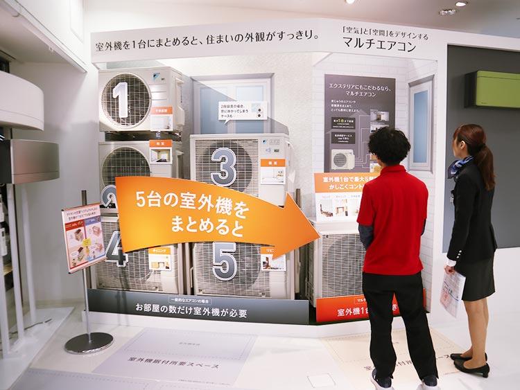 フーハ東京|室外機をまとめるマルチエアコン