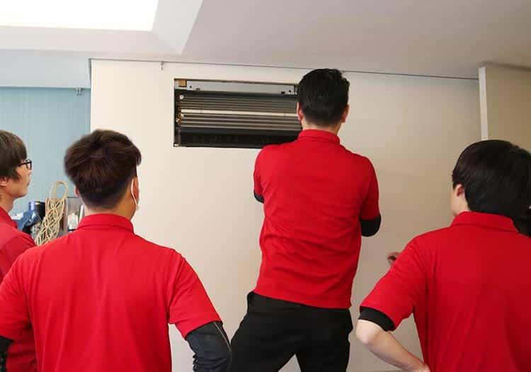 スマイキュア技術研修|壁埋込式エアコン